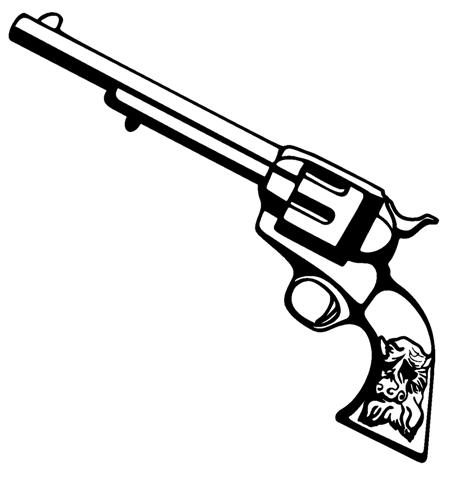 454x480 Small Gun Drawing