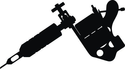 tattoo gun silhouette at getdrawings com free for personal use rh getdrawings com Tattoo Machine Clip Art free tattoo gun clipart vector