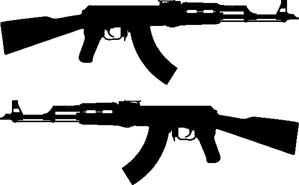 600x371 Ak Rifle Silhouette Clip Art