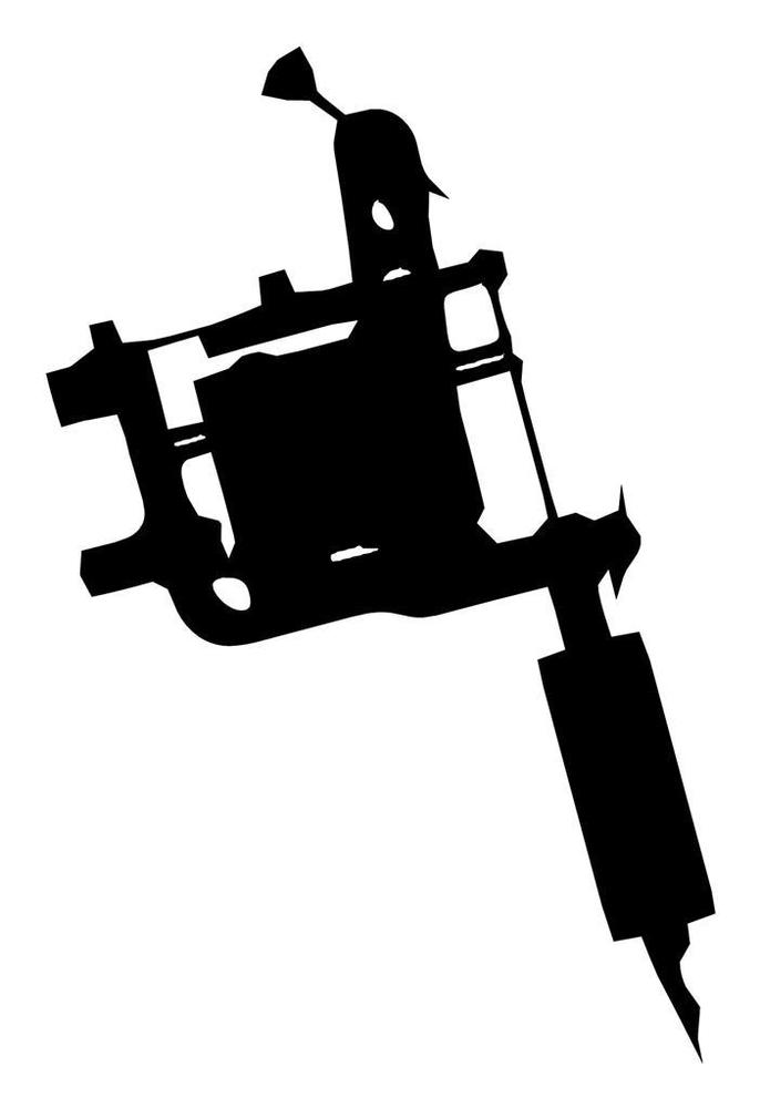 tattoo gun silhouette at getdrawings com free for personal use rh getdrawings com  tattoo machine clip art free
