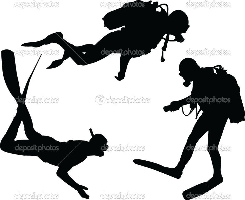 1024x834 Scuba Diver Silhouette Scuba Divers Silhouette Collection