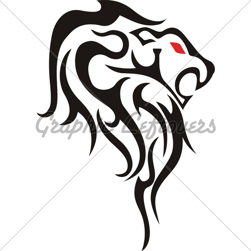 500x500 Heraldic Lion Silhouette Tattoo Pictures Gourds