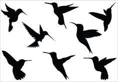 236x165 Hummingbird Sketchesdraws Silhouettes, Stenciling