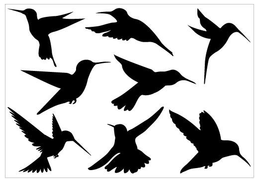 519x367 Hummingbird Silhouette Pack Tattoo Love Clipart