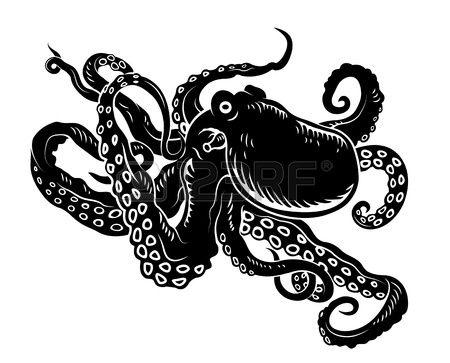 450x363 Octopus Silhouette Tattoo Clipart Panda