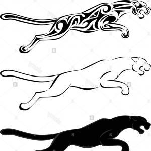 300x300 Stock Photo Jaguar Tattoo Silhouette Createmepink