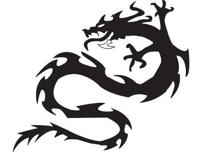 400x300 Tribal Dragon Tattoos