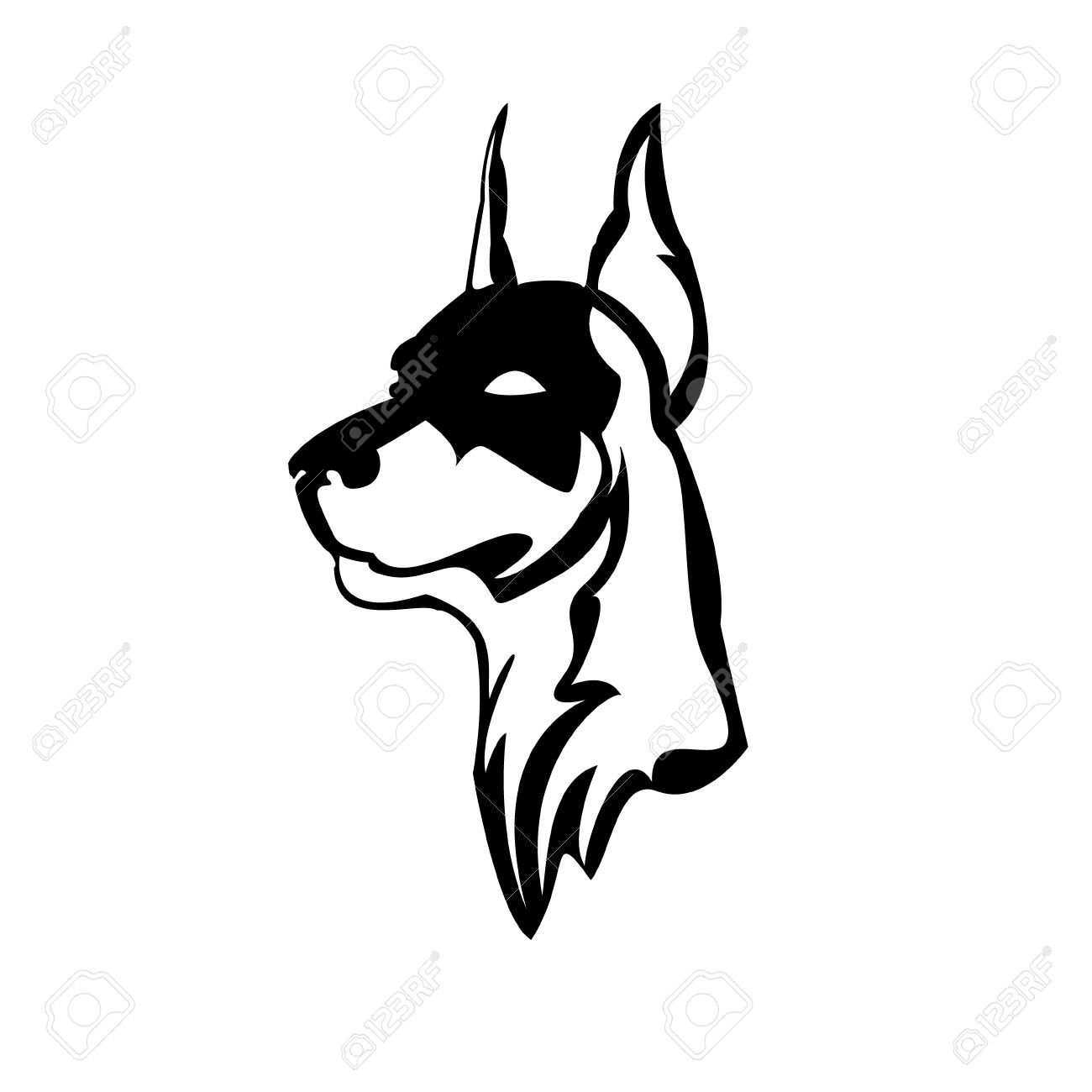 1300x1300 Doberman Tattoo Silhouette Let My Body Be Their Canvas