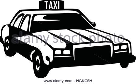 450x279 Taxi Silhouette Of A Retro Car Stock Vector Art Amp Illustration