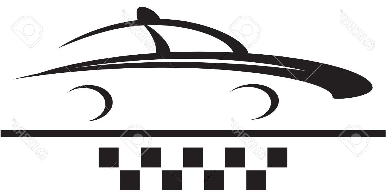 1300x650 Best 15 Taxi Sign Car And Cab Symbol Silhouette Stock Vector