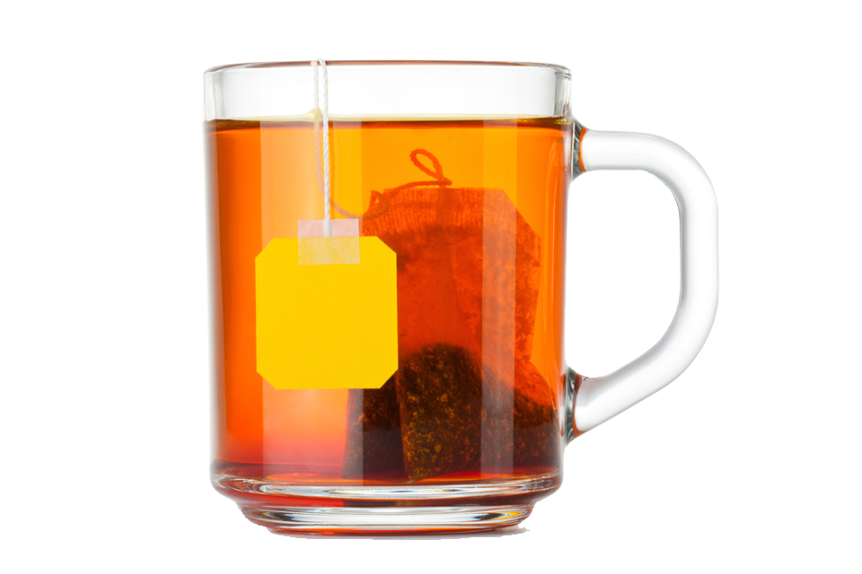 960x640 Glass Teacup With Tea Bag Isolated Stock Photo By