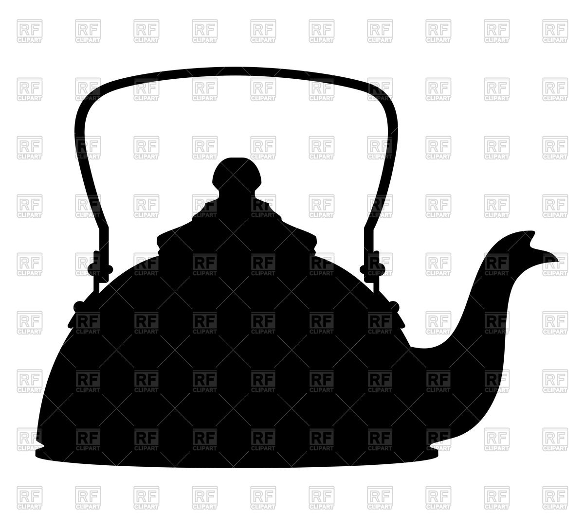 1200x1086 Kettle Silhouette On White Background