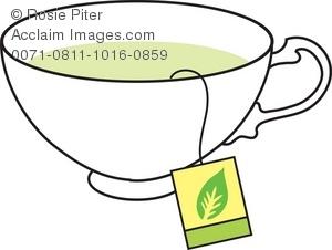 300x226 Royalty Free Black White Tea Set Clipart Collection