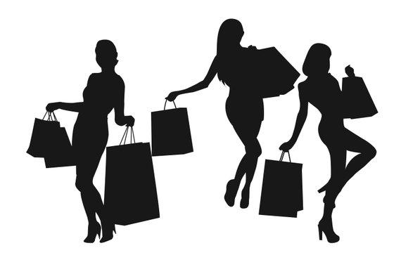 570x380 Shopping Silhouette Shopping Girl Woman Silhouette Women