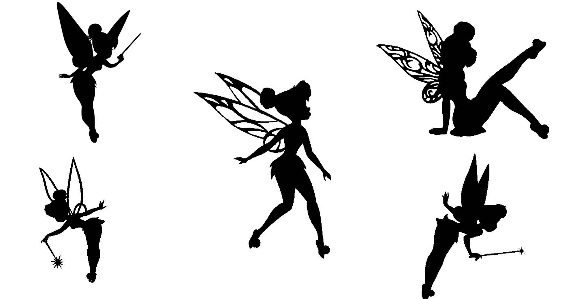 1994x1038 Tinkerbell Fairy Cutout Silhouette 15 Tinkerbell Die Cuts