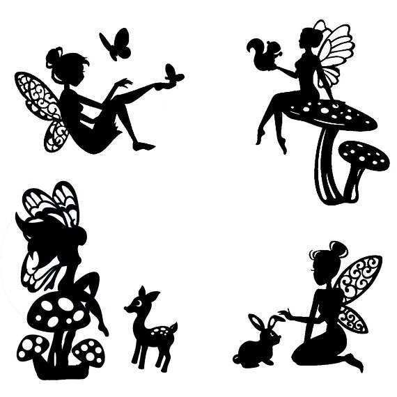 570x570 Woodland Fairy Die Cut Silhouette Fairy Cutouts X 9 Or 12.