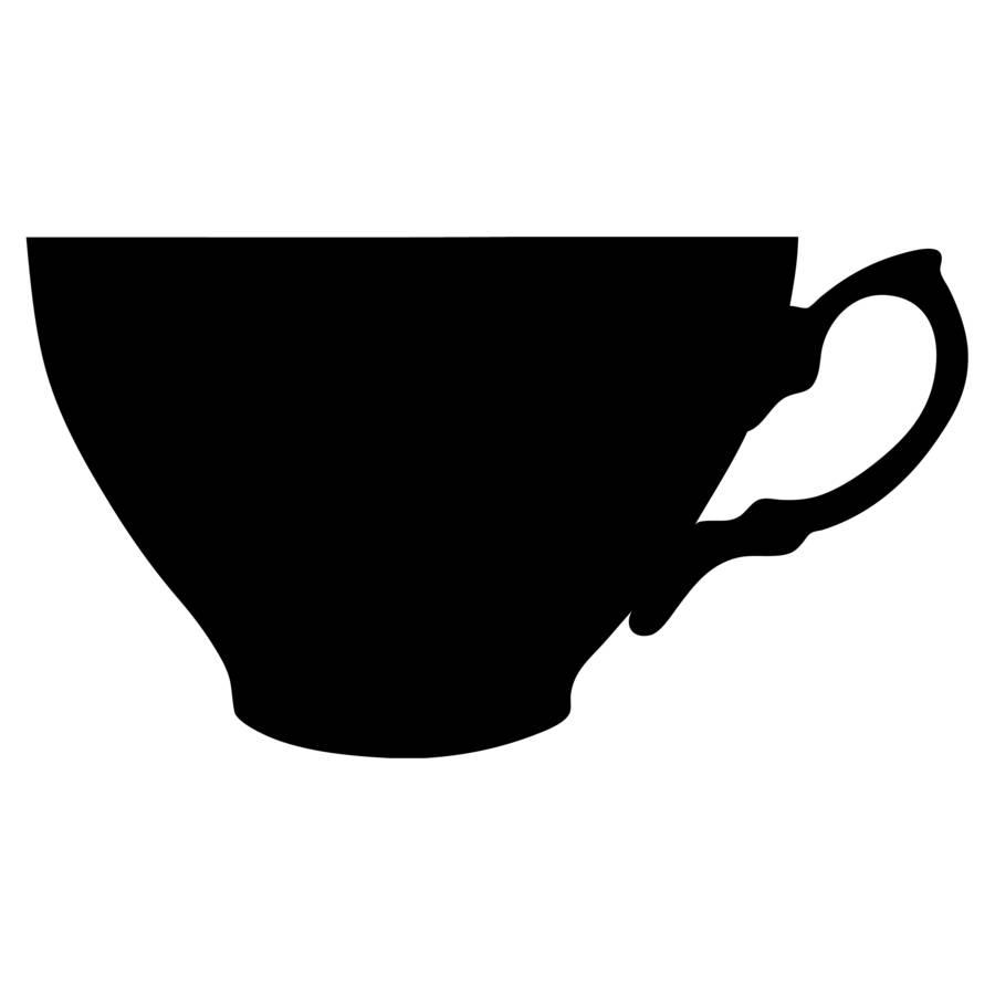 tea cup silhouette at getdrawings com free for personal use tea
