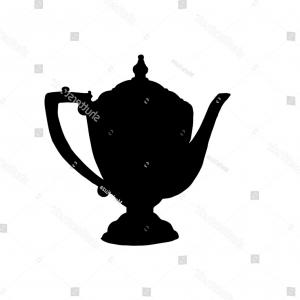 300x300 Photostock Vector Hand Drawn Sketch Of Teacup And Teapot Vintage