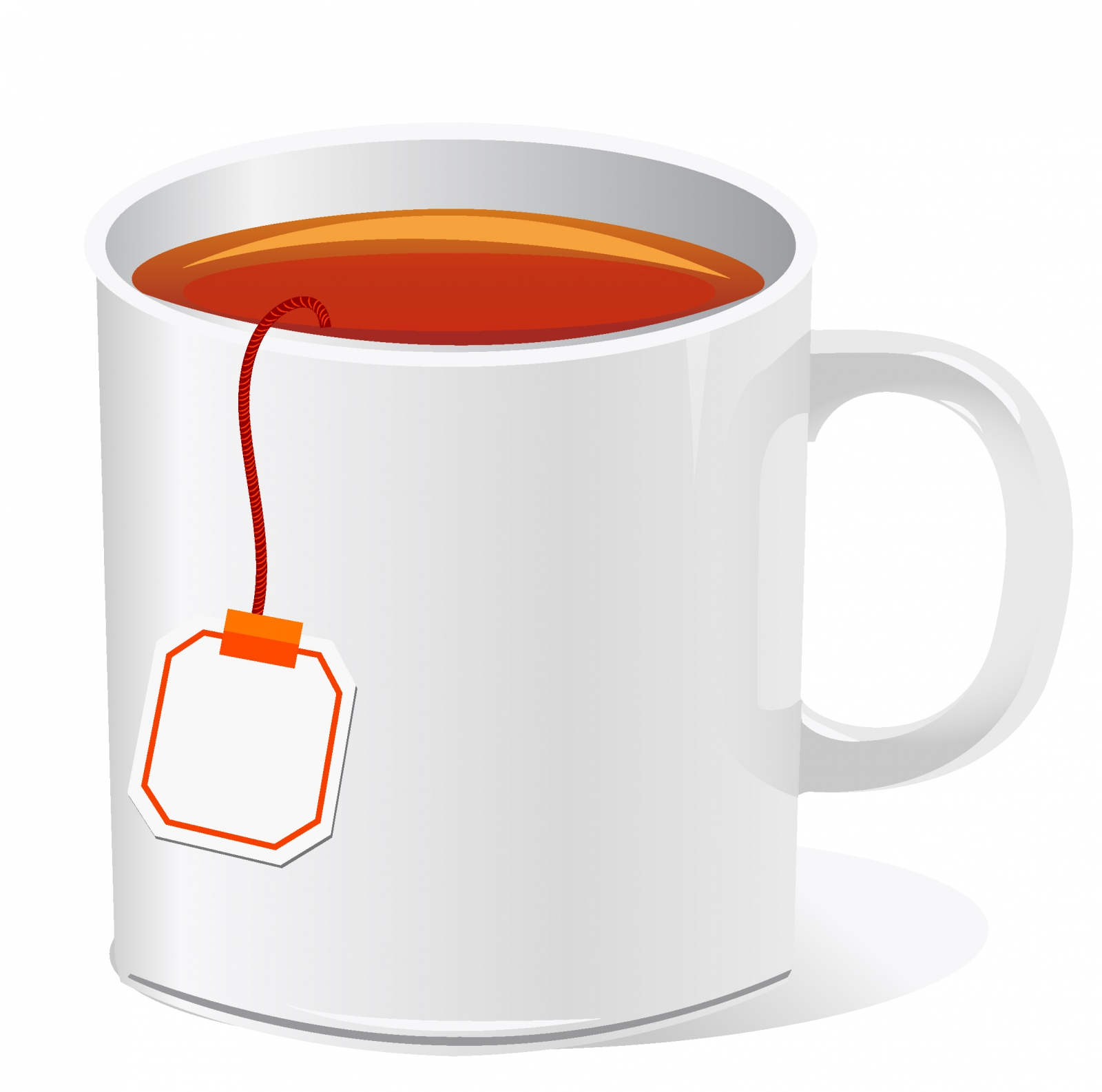 1600x1586 Tea Cup With Teabag Free Vector 4vector