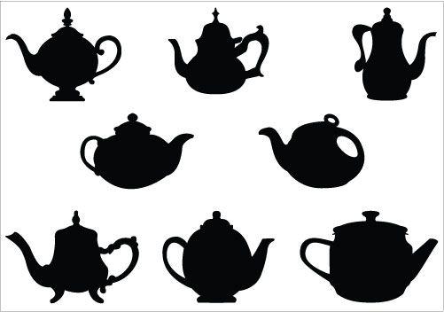 501x352 Teapot Silhouette Vector Silhouette Clip Art