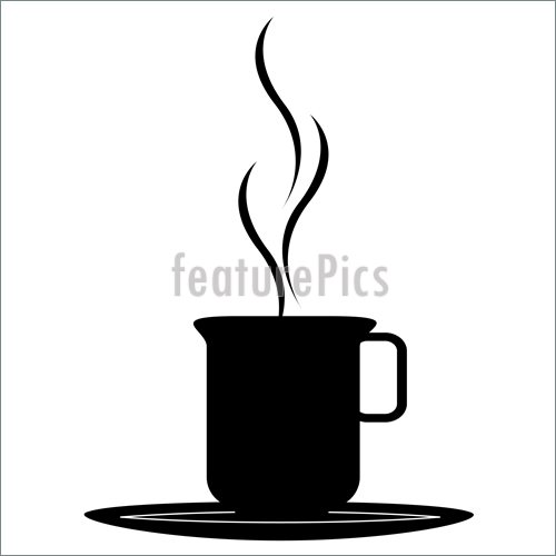 500x500 Coffee Cup Silhouette Illustration