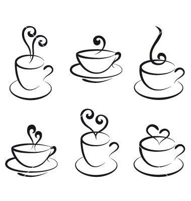 380x400 Coffee And Tea Cups Vector 1048131