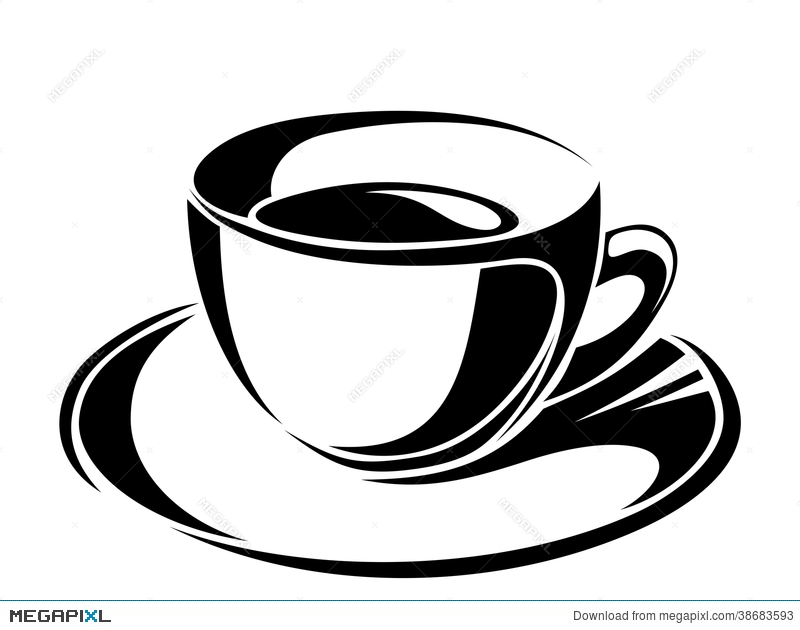 Tea Cup Silhouette Vector at GetDrawings.com | Free for personal use ...