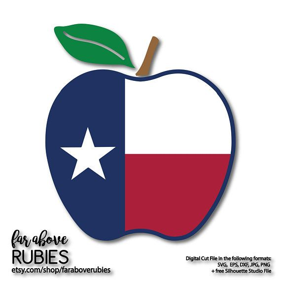 570x570 Texas Flag Apple Svg Tx Teacher Apple Svg, Eps, Dxf, Png, Jpg