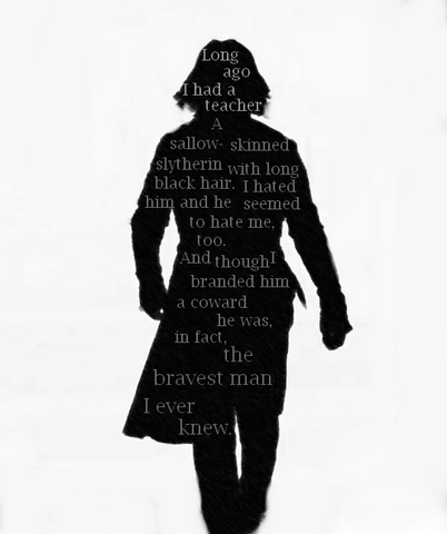402x480 That This Silhouette Is Instantly Recognisable As Snape Is