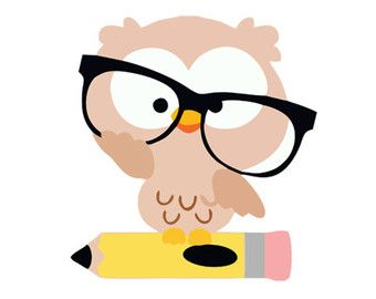 340x270 Owl Glasses Teacher Silhouette Svg Dxf File Instant Download