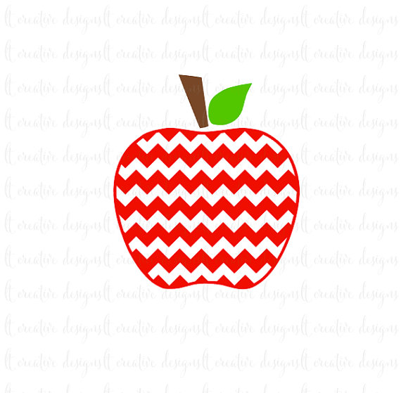 570x559 Chevron Apple Svg, Teacher Svg, Apple Svg, Svg Files, Silhouette