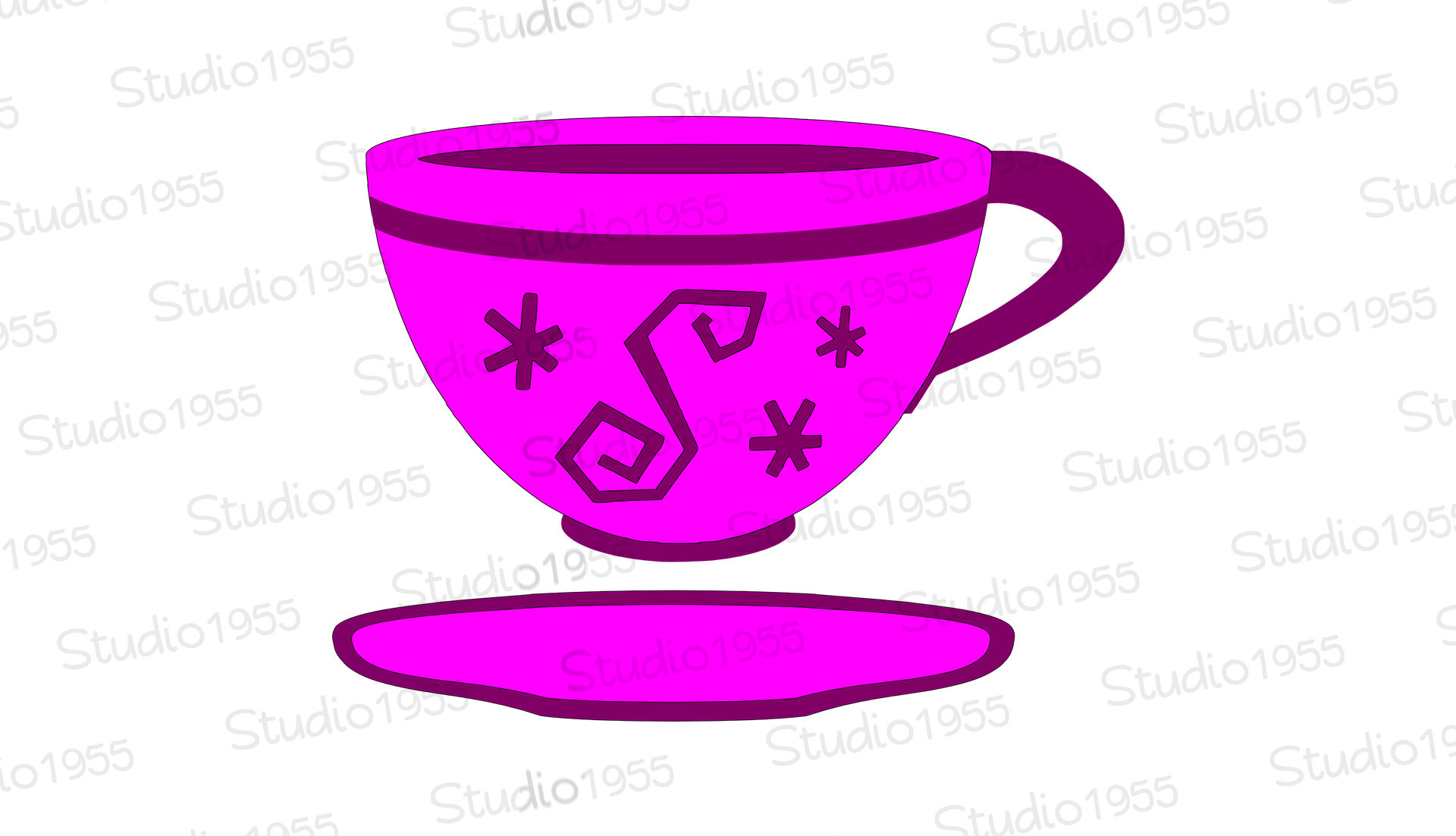1920x1103 Mad Tea Party Inspired Svg Cutting Files Retro Teacup