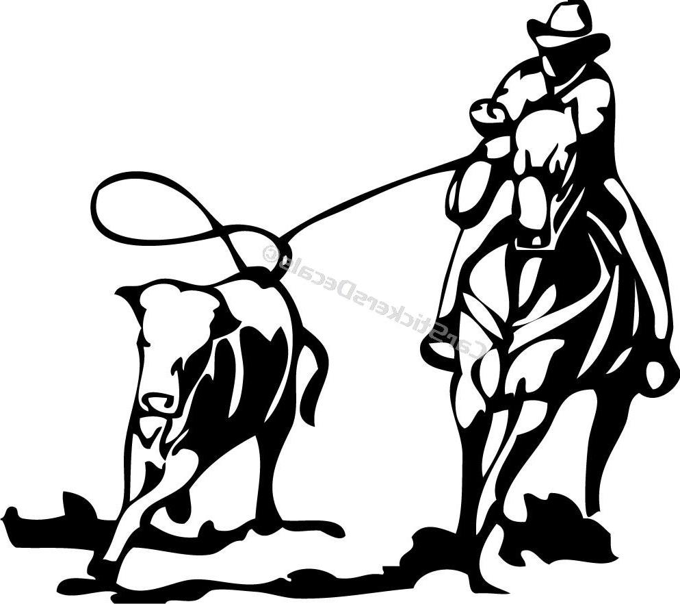 Team Roping Silhouette