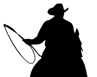 340x270 Roping Silhouette Etsy