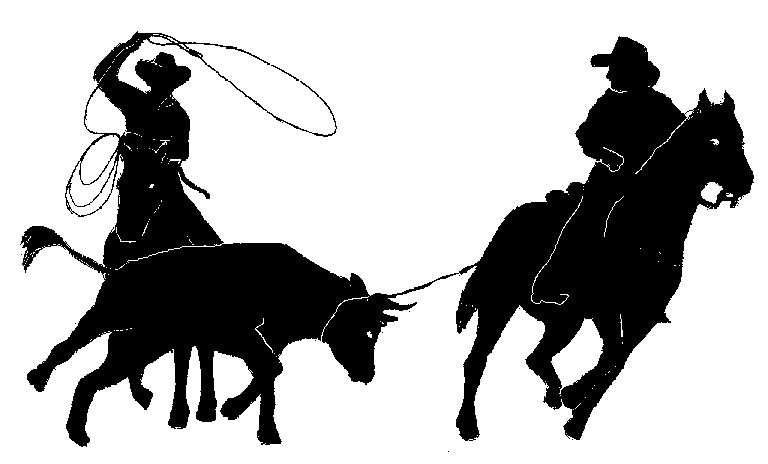 768x464 Team Roping Clip Art Team Roper Silhouette Pictures Animals