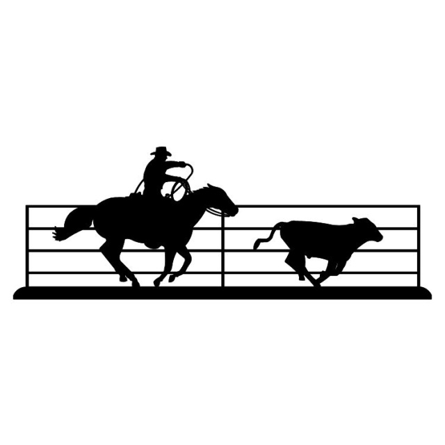 640x640 Metal Wall Art Silhouettes Old West