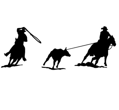 team roping silhouette clip art at getdrawings com free for rh getdrawings com Team Roping Drawings team roping clipart