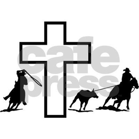460x460 Team Roping At The Cross Postcards (Package Of 8) By Decaljunky