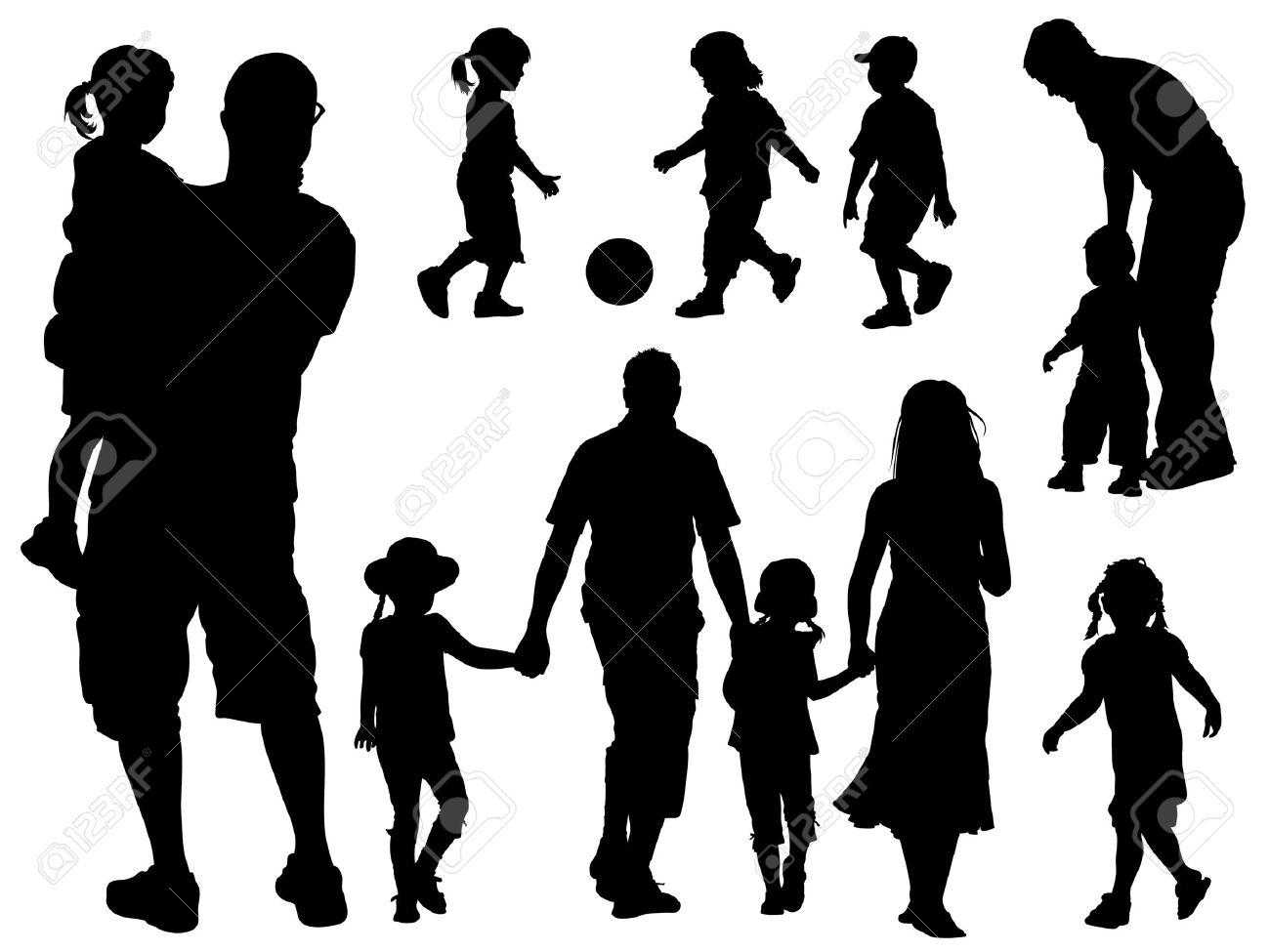 1300x975 Silhouette Clipart Parent