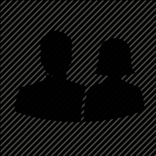 512x512 Avatar, Couple, Love, Romance, Silhouette, Team, User Icon Icon