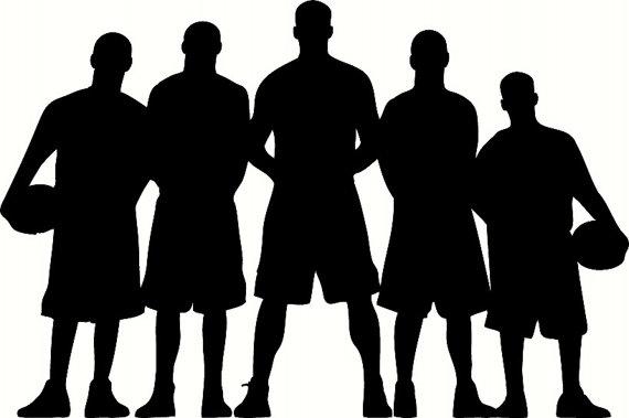 570x379 Basketball Team Silhouette