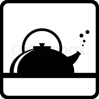 320x320 Vector Stock Of Red Boiling Hot Water Kettle With Steam Coming Out