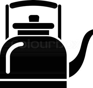 320x306 Porcelain Teapot Icon. Simple Illustration Of Porcelain Teapot