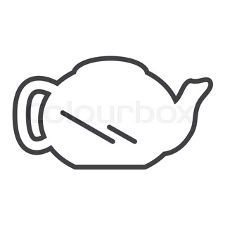 320x320 Teapot And Cups, Silhouettes Stock Vector Colourbox