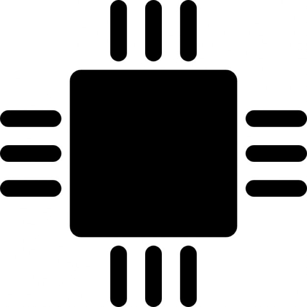 626x626 Microchip Variant Silhouette Icons Free Download