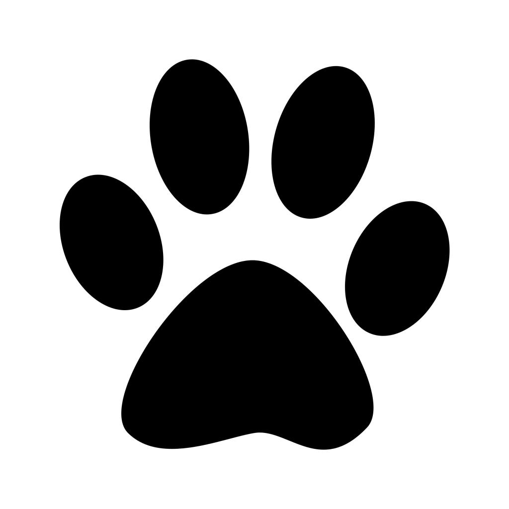 1024x1024 Paw Print Silhouette Dog Paw Clip Art Black Paw Print Silhouette