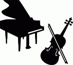 300x268 Violin Clipart Silhouette