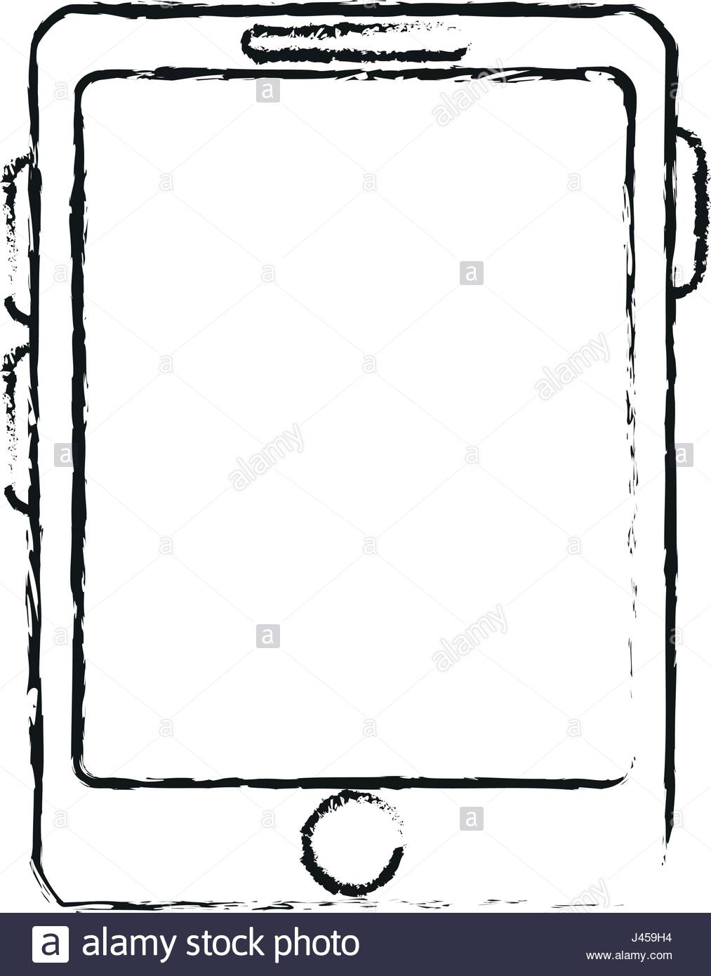 1013x1390 Blurred Silhouette Cartoon Tablet Technology Device Stock Vector