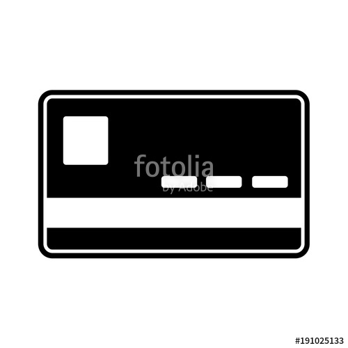 500x500 Silhouette Finance Credit Card Economy Technology Stock Image