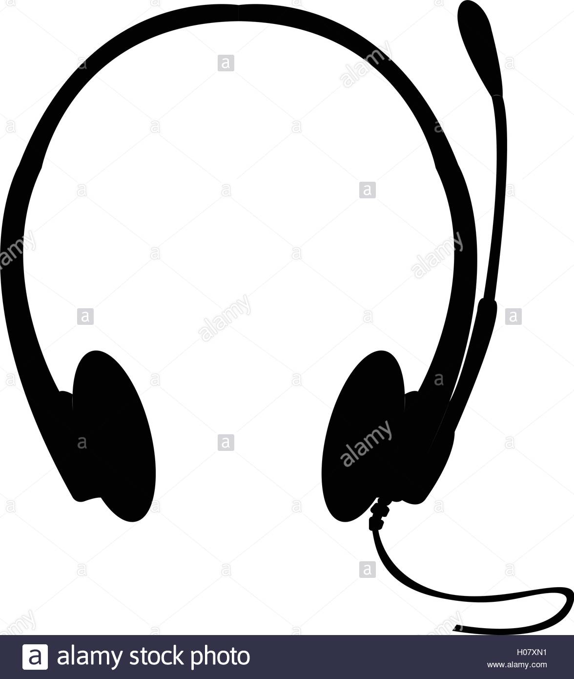 1176x1390 Isolated Silhouette Of A Headphones, Vector Illustration Stock